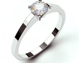 en mooie solitaire ring met een diamant
